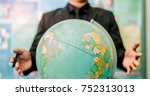 classroom globes school globes  ... | Shutterstock . vector #752313013