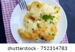 gratin potatoes with cheese and ... | Shutterstock . vector #752314783
