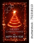 merry christmas and happy new... | Shutterstock .eps vector #752318113