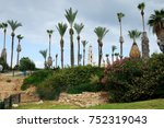 park in the old town of jaffa... | Shutterstock . vector #752319043