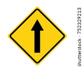 one way sign on white... | Shutterstock .eps vector #752329213