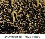 gold  marbling texture design... | Shutterstock .eps vector #752344093
