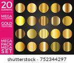 vector set of gold gradients ... | Shutterstock .eps vector #752344297