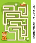 maze game for kids  help the... | Shutterstock .eps vector #752345287