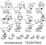 vector collection of christmas... | Shutterstock .eps vector #752347003