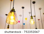 luxury beautiful retro edison... | Shutterstock . vector #752352067