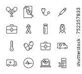 modern outline style medical... | Shutterstock .eps vector #752357833