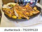 roasted suckling pig of botin... | Shutterstock . vector #752359123