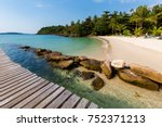 Small photo of Summer landscape on tropical koh Kood island in Thailand. Landscape with sea taken on Klong Mard.