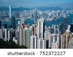 victoria harbor  hong kong ... | Shutterstock . vector #752372227