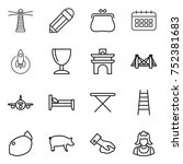 thin line icon set   lighthouse ...   Shutterstock .eps vector #752381683