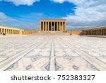 anitkabir  mausoleum of ataturk ... | Shutterstock . vector #752383327