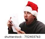 christmas bill man   Shutterstock . vector #752403763