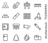 thin line icon set   hierarchy  ... | Shutterstock .eps vector #752404993
