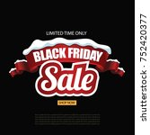black friday background with... | Shutterstock .eps vector #752420377