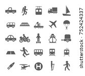 set of transportations icon in... | Shutterstock .eps vector #752424337