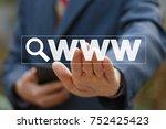 business button search...   Shutterstock . vector #752425423