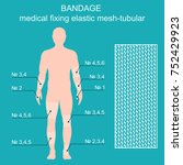 medical net bandage tubular... | Shutterstock .eps vector #752429923