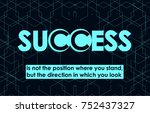 success quote in modern... | Shutterstock .eps vector #752437327