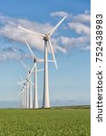 windfarm in dutch landscape... | Shutterstock . vector #752438983