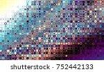 abstract digital fractal... | Shutterstock . vector #752442133
