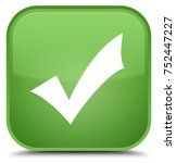 validation icon isolated on... | Shutterstock . vector #752447227
