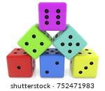 stacked dice in pyramid.3d... | Shutterstock . vector #752471983