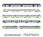 set of passenger train. subway... | Shutterstock .eps vector #752475673