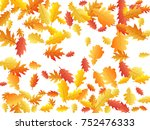 oak leaf abstract background... | Shutterstock .eps vector #752476333