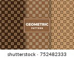 geometric pattern set. simple ... | Shutterstock .eps vector #752482333