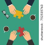 business cooperation and... | Shutterstock .eps vector #752535763