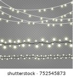 christmas lights isolated on... | Shutterstock .eps vector #752545873