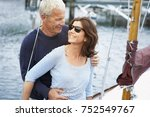 middle aged couple on an old... | Shutterstock . vector #752549767