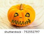 halloween pumpkin  pumpkin jack ... | Shutterstock . vector #752552797