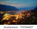 kotor sunset montenegro | Shutterstock . vector #752566837