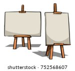 easel. cartoon vector...   Shutterstock .eps vector #752568607
