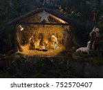 Small photo of Christmas creche with Joseph Mary and small Jesus