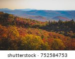 colorful trees covering the... | Shutterstock . vector #752584753