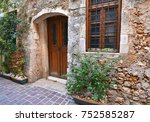 traditional old house in chania ... | Shutterstock . vector #752585287