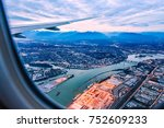 view from airplane window on... | Shutterstock . vector #752609233