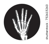 hand x ray image icon  vector... | Shutterstock .eps vector #752615263