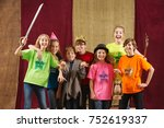 young actors holding costume... | Shutterstock . vector #752619337