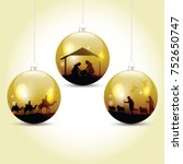 Christmas Balls With Nativity...
