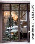 reflection of white semi truck...   Shutterstock . vector #752652697