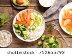 healthy vegetarian bowl | Shutterstock . vector #752655793