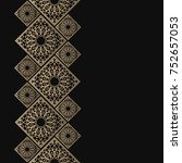 golden frame in oriental style. ... | Shutterstock .eps vector #752657053