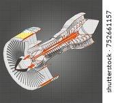 turbo jet engine aircraft....   Shutterstock .eps vector #752661157
