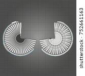 turbo jet engine aircraft.... | Shutterstock .eps vector #752661163