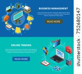 business management and online... | Shutterstock . vector #752680147