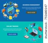 business management and online... | Shutterstock . vector #752680147